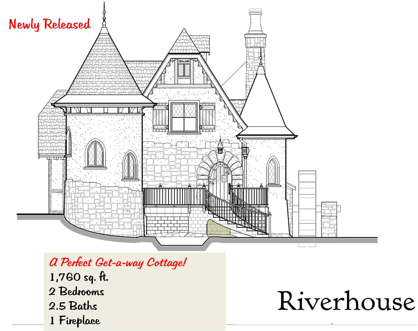 Storybook cottage house plans for Storybook cottage plans